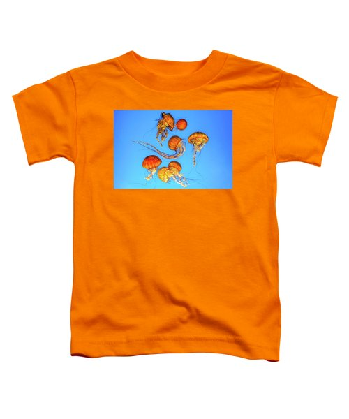 Jellyfish And Blue Toddler T-Shirt