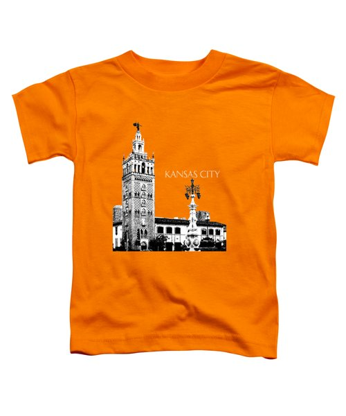 Kansas City Skyline 2 - Dark Orange Toddler T-Shirt