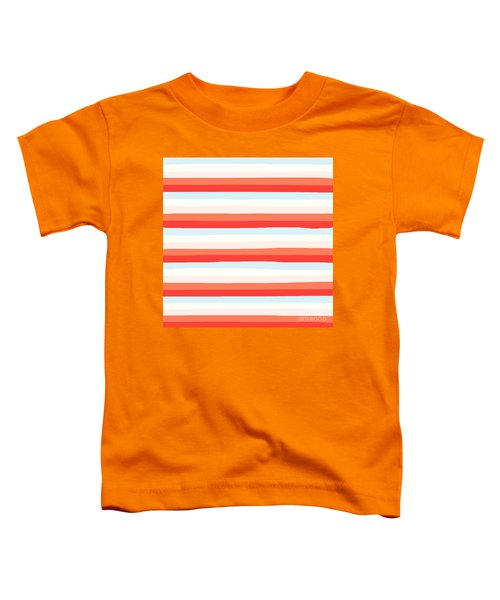 lumpy or bumpy lines abstract and colorful - QAB266 Toddler T-Shirt