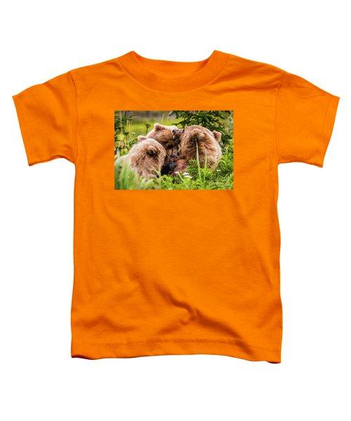 Mama Bear Nursing Her Two Cubs, Lake Clark National Park, Alaska Toddler T-Shirt