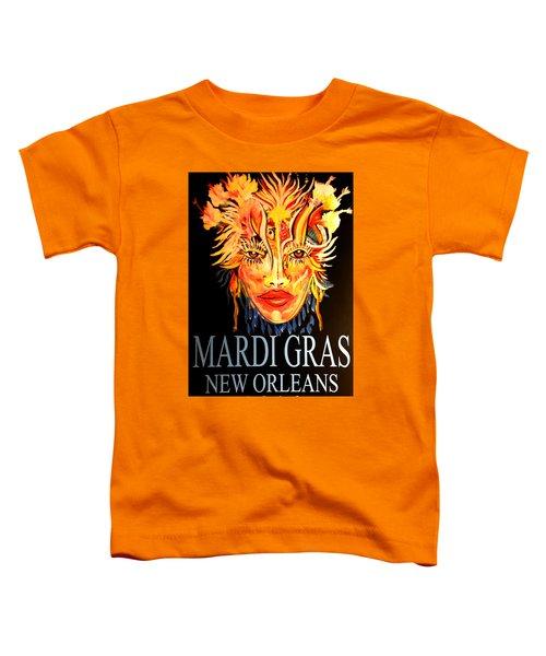 Mardi Gras Lady Toddler T-Shirt