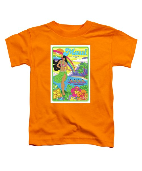 Maui Poster - Pop Art - Travel Toddler T-Shirt