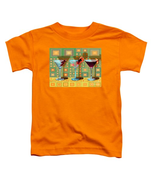 Mid Century Modern Abstract Mcm Three Martinis Shaken Not Stirred 20190127 V1a Toddler T-Shirt