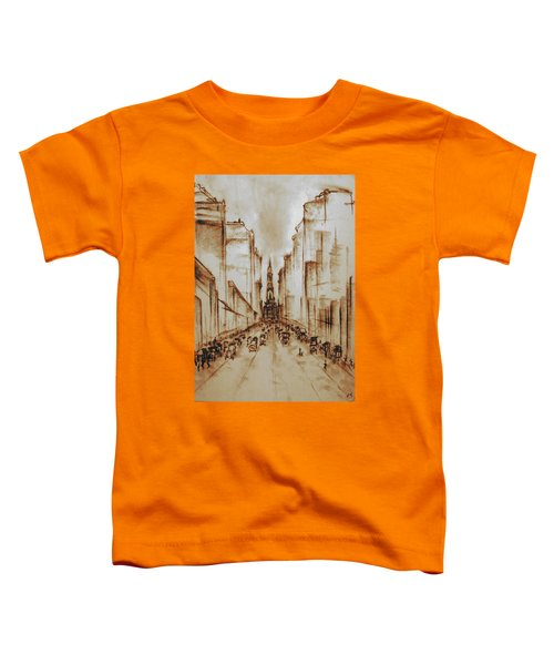 Old Philadelphia City Hall 1920 - Pencil Drawing Toddler T-Shirt