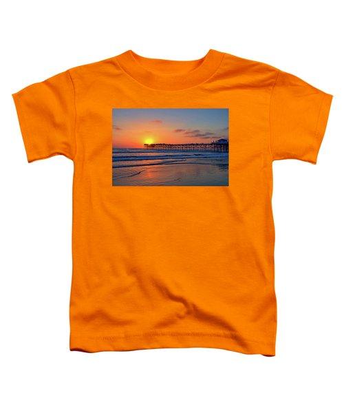 Pacific Beach Pier Sunset Toddler T-Shirt
