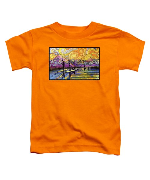 Paddleboarders Frisco Colorado Toddler T-Shirt