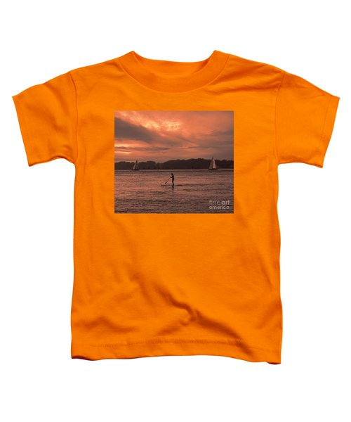 Paddleboarding On The Great Peconic Bay Toddler T-Shirt