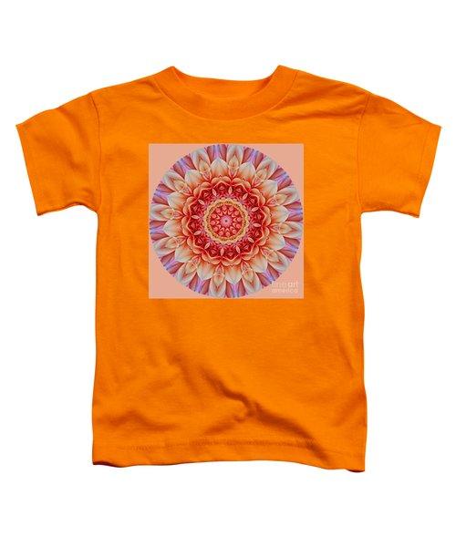 Peach Floral Mandala Toddler T-Shirt