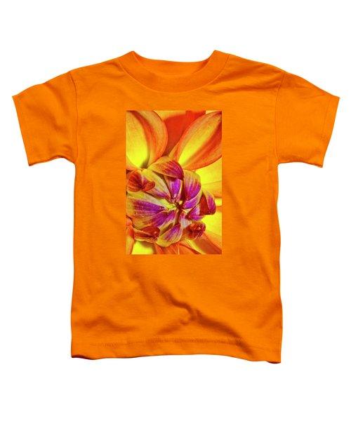 Peach Purple Flower Toddler T-Shirt