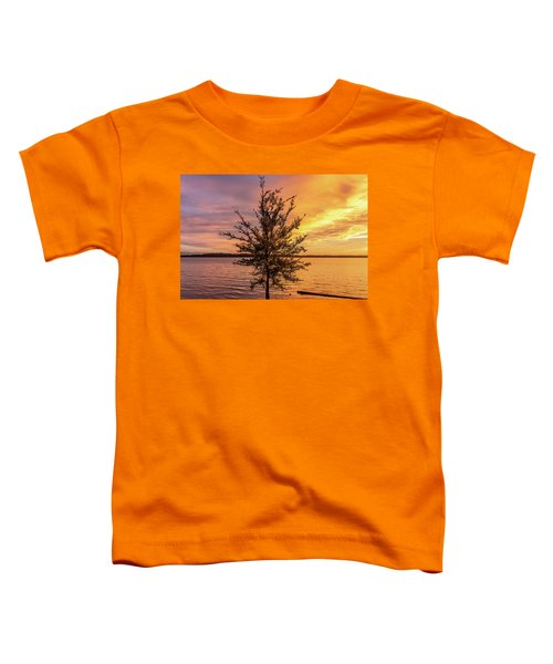 Percy Priest Lake Sunset Young Tree Toddler T-Shirt
