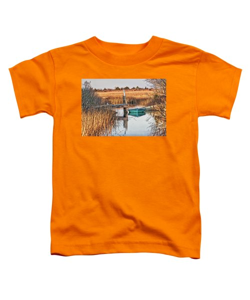 Poquoson Marsh Boat Toddler T-Shirt