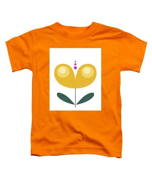 Scandinavian Yellow Flower Toddler T-Shirt