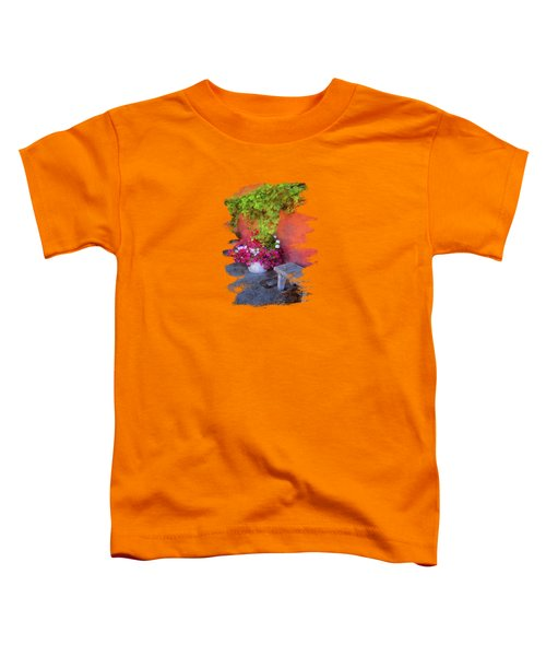 Sidewalk Floral In Brownsville Toddler T-Shirt