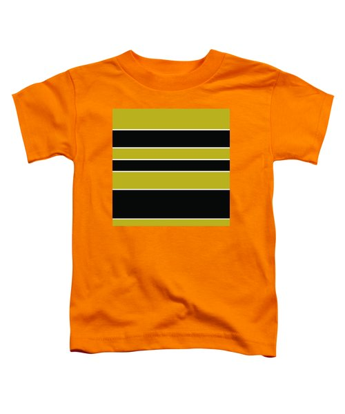 Stacked - Gold, Black And White Toddler T-Shirt