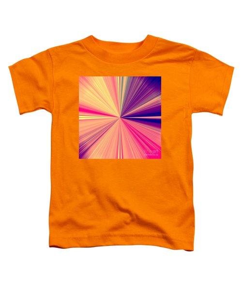 Starburst Light Beams In Abstract Design - Plb457 Toddler T-Shirt