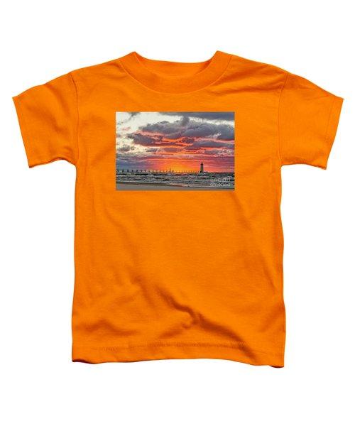 Sun Sinking Below The Horizon Toddler T-Shirt