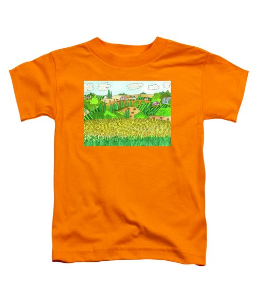 Sunflower French Countryside Toddler T-Shirt
