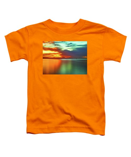 Sunset And Boat Toddler T-Shirt