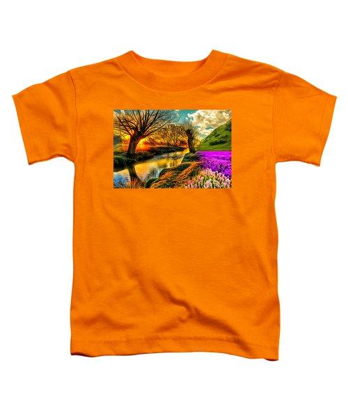 Sunset Landscape Toddler T-Shirt