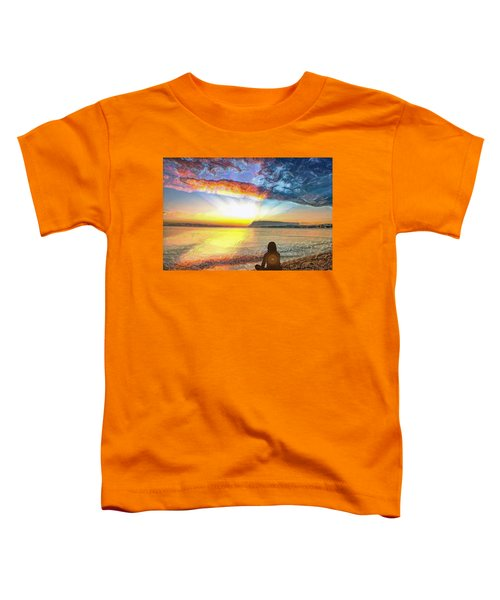Sunset Meditation Toddler T-Shirt