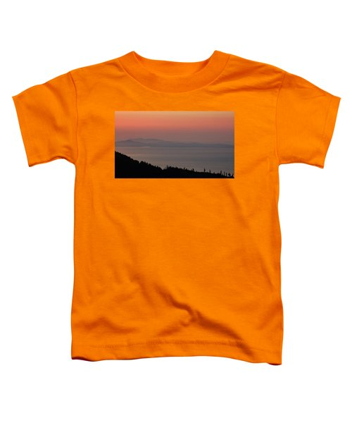 Sunset Of The Olympic Mountains Toddler T-Shirt