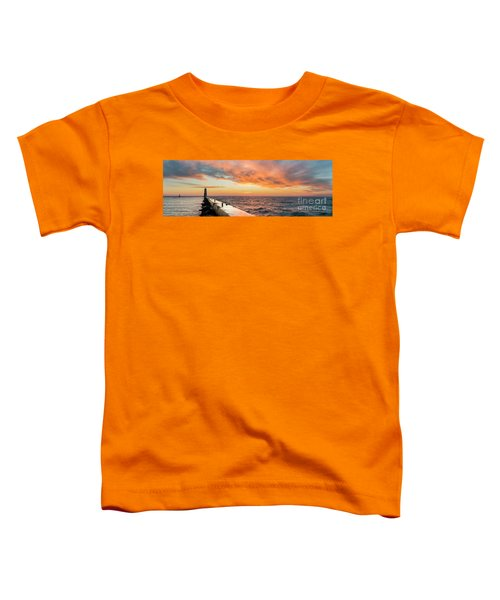 Sunset Panorama In Frankfort Toddler T-Shirt