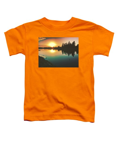 Sunset River Reflections  Toddler T-Shirt