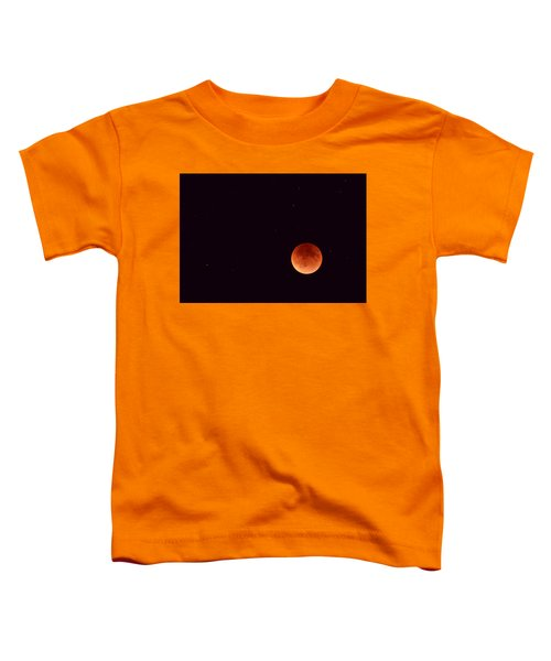 Toddler T-Shirt featuring the photograph Super Harvest Blood Moon by Carl Young