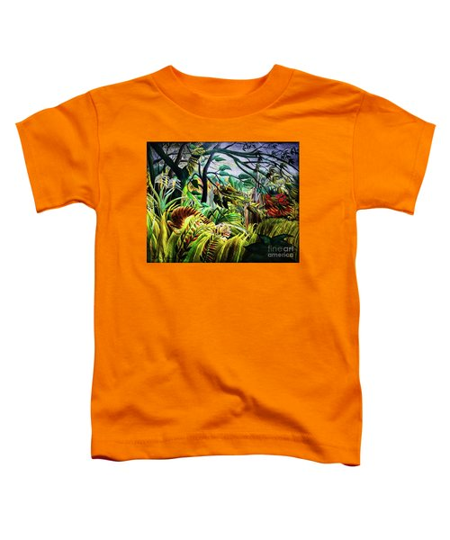 Tiger In A Tropical Storm Toddler T-Shirt