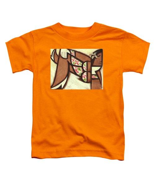 Tommervik Hawaiian Woman Lounging Art Print Toddler T-Shirt