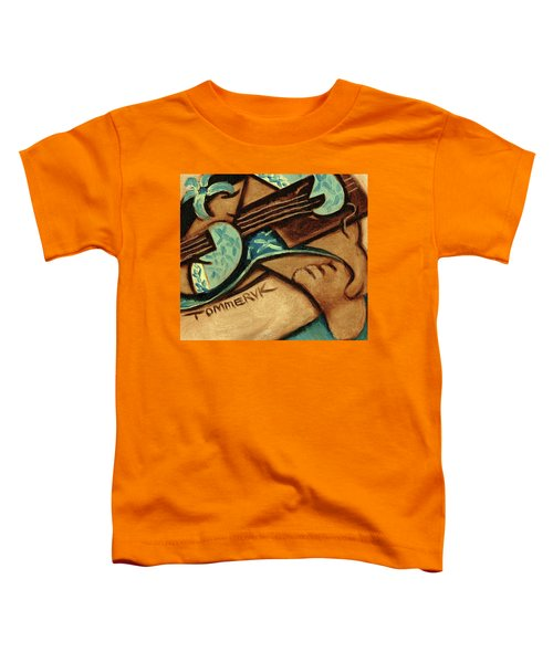 Tommervik Hawaiian Woman Playing Ukulele Art Print Toddler T-Shirt