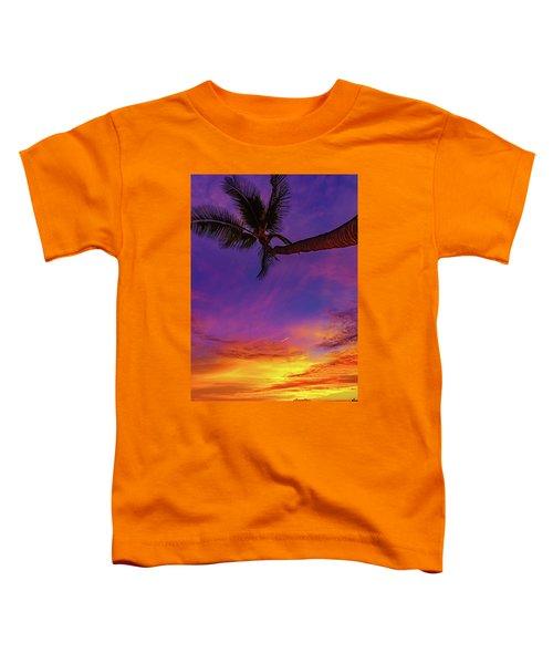Vibrant Kona Inn Sunset Toddler T-Shirt