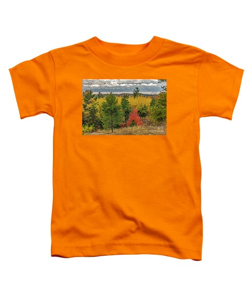 Vibrant Shades Of Red, Green, And Yellow Leaves Toddler T-Shirt