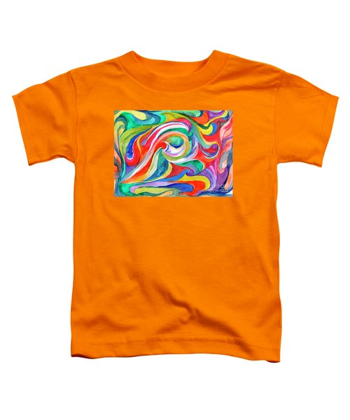Watercolor's Swirl Toddler T-Shirt