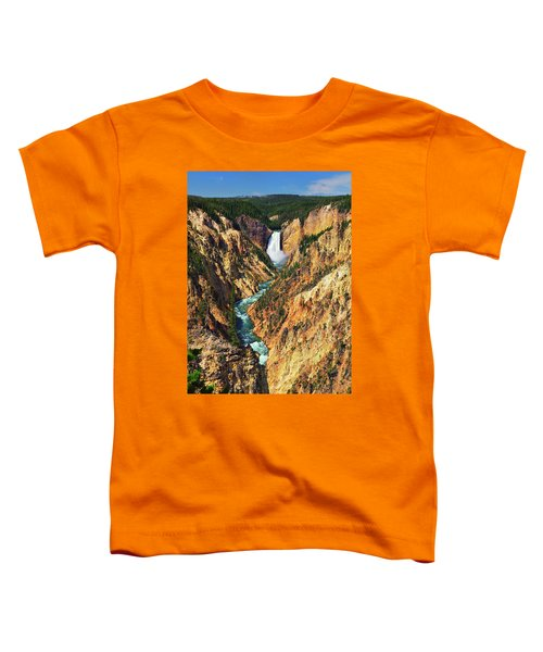 Toddler T-Shirt featuring the photograph Yellowstone Grand Canyon From Artist Point by Greg Norrell