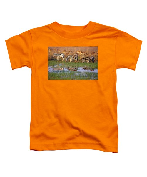 Zebras In Botswana Toddler T-Shirt