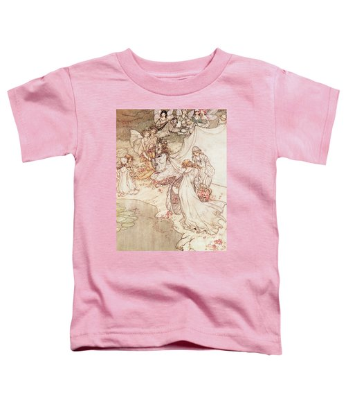 Illustration For A Fairy Tale Fairy Queen Covering A Child With Blossom Toddler T-Shirt