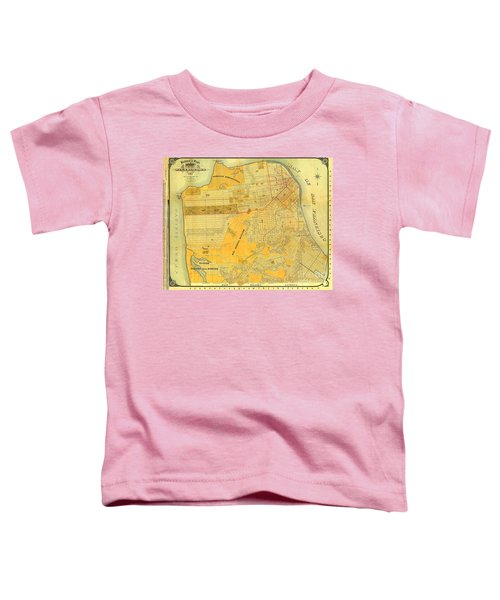 Britton And Reys Guide Map Of The City Of San Francisco. 1887. Toddler T-Shirt