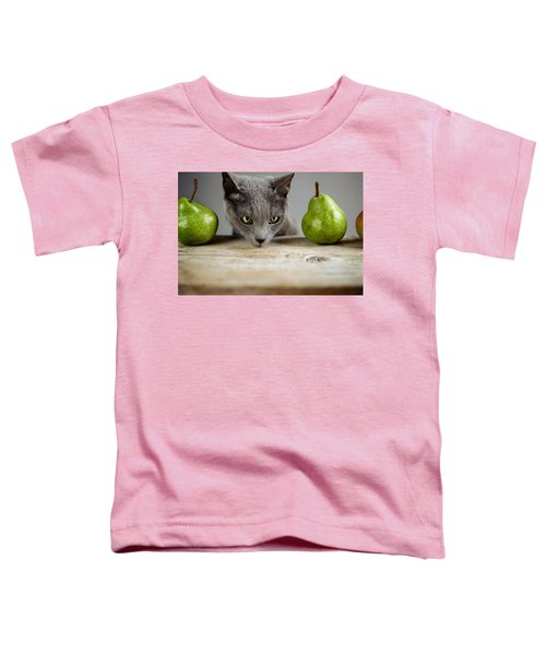 Cat And Pears Toddler T-Shirt