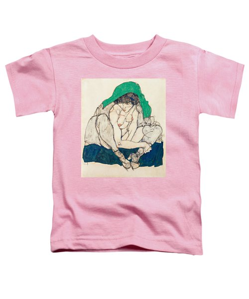 Crouching Woman With Green Headscarf Toddler T-Shirt