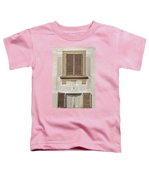 Dueling Windows Of Tuscany Toddler T-Shirt