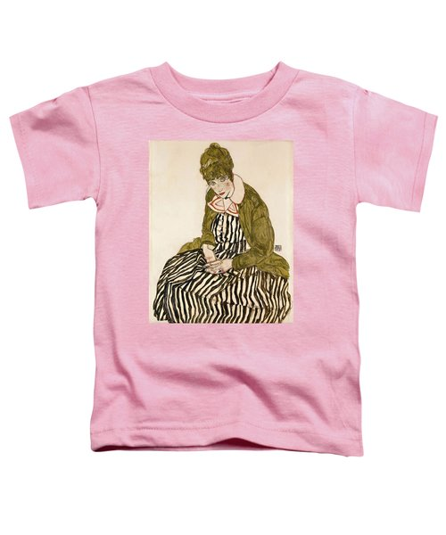Edith With Striped Dress Sitting Toddler T-Shirt