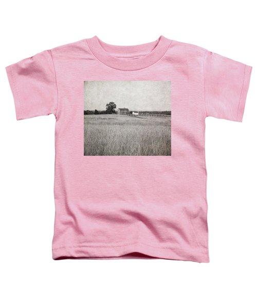 Henry House At Manassas Battlefield Park Black And White Toddler T-Shirt