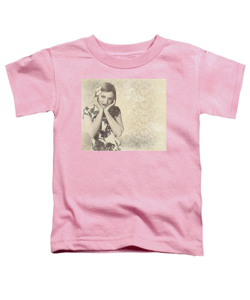 Vintage Photograph Of A Vintage Hollywood Actress Toddler T-Shirt