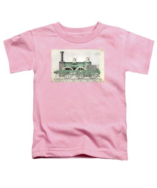 1843 Locomotive Luggage Engine Toddler T-Shirt