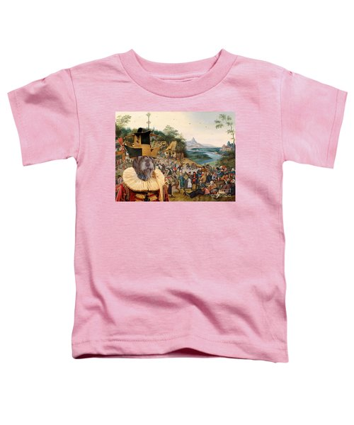 Korthals Pointing Griffon Art Canvas Print Toddler T-Shirt by Sandra Sij