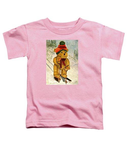 Learning To Ski Toddler T-Shirt
