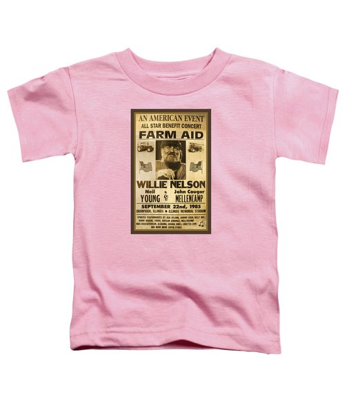 Vintage Willie Nelson 1985 Farm Aid Poster Toddler T-Shirt