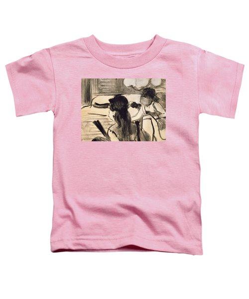 Illustration From La Maison Tellier By Guy De Maupassant Toddler T-Shirt