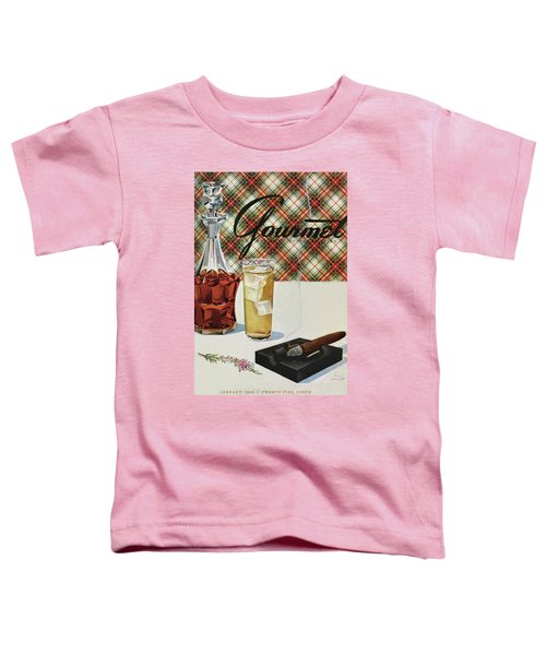 A Cigar In An Ashtray Beside A Drink And Decanter Toddler T-Shirt